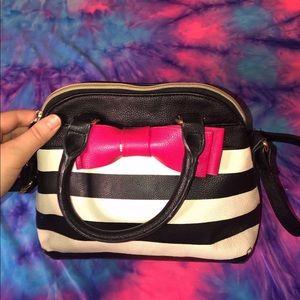 Betsey Johnson crossbody bow purse